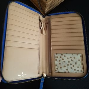 Kate Spade Wellesley travel wallet large blue